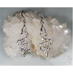 Abstract Shape Sterling Silver Earrings