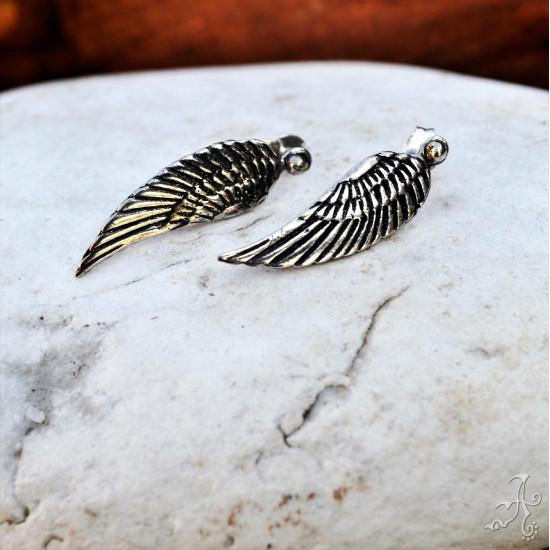Angel Wings Sterling Silver Earrings