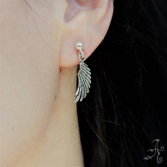 Eagle Wings Sterling Silver Earrings