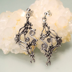 Galaxy Inspired Handcrafted Solid Silver Earrings