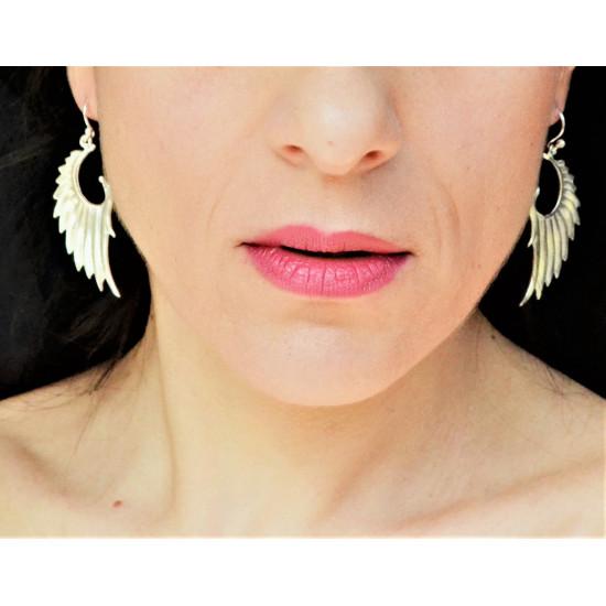 Genuine Silver Swan Wings Handcrafted Earrings