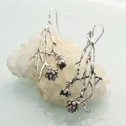 Sterling Silver Pinecone Long Dangle & Drop Earrings