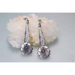 Handmade Daisy Flower Earrings in 925 Genuine Sterling Silver