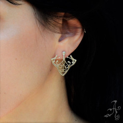 Ivy Leaf Handcrafted Sterling Silver Earrings