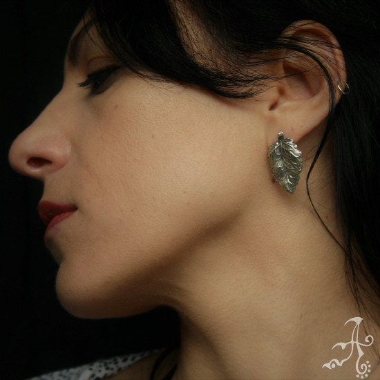 Lightweight Dainty Real Leaf  925 Silver Earrings
