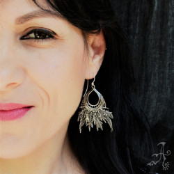 Native American's Sterling Silver Handcrafted Earrings