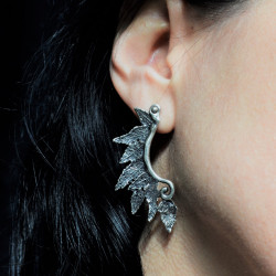 Native Indian Handcrafted Solid Silver Earrings