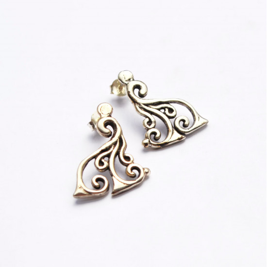 Spiral Handcrafted 925 Silver Earrings