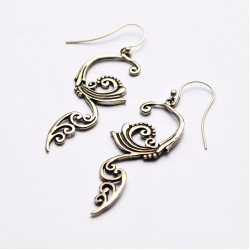 Wind and Waves Solid Silver Handcrafted Earrings