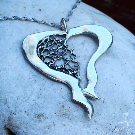 Big Heart Genuine Silver Handcrafted Pendant