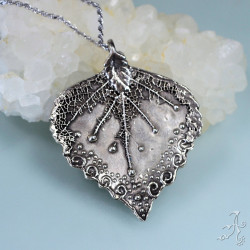 Big Leaf 925 Silver Granulated Pendant