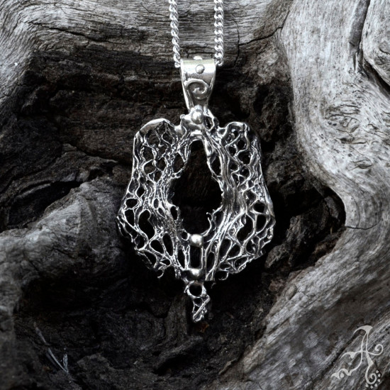 Boho Unisex Two Sided Genuine Silver Pendant