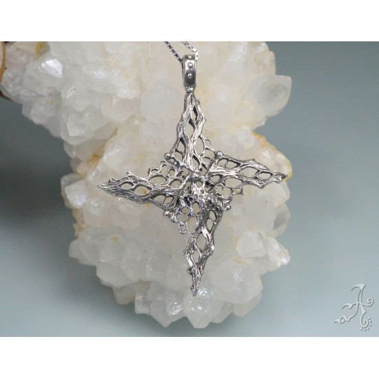 Celestial  Four Point Star 925 Silver Pendant
