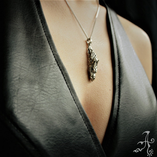 Dragon Shape Unisex Handcrafted Solid Silver pendant