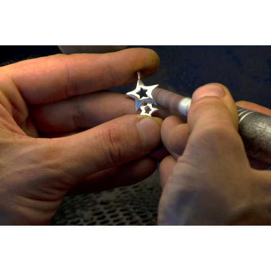 Lucky Stars Sterling Silver Pendant