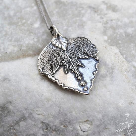 Minimal Real Leaf Small Sterling Silver Leaf