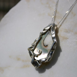 Unique Mother of Pearl Sterling Silver Pendant