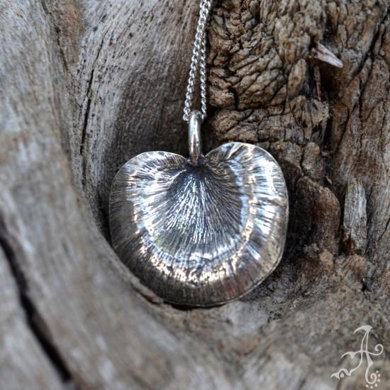 Minimal Tree Mushroom Silver Necklace