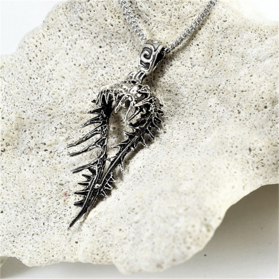 Real Thistle Solid Silver Handcrafted Unisex Pendant