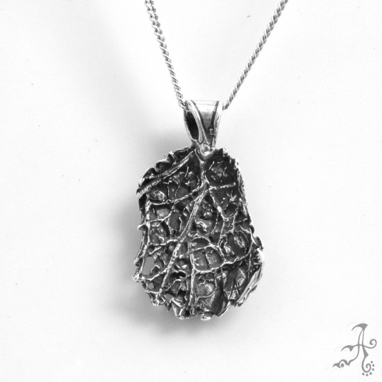 Unisex Two Side Solid Silver Handmade Pendant